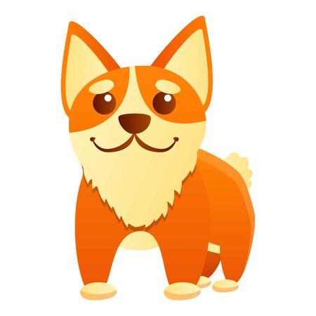 Cute corgi dog icon. Cartoon of cute corgi dog vector icon for web design isolated on white background 스톡 콘텐츠 - 133772791