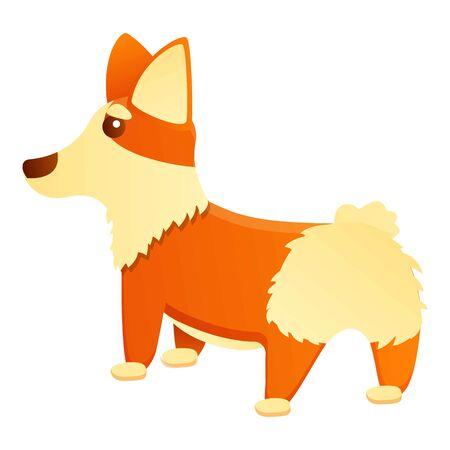 Back of corgi dog icon. Cartoon of back of corgi dog vector icon for web design isolated on white background