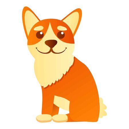 Stay corgi dog icon. Cartoon of stay corgi dog vector icon for web design isolated on white background
