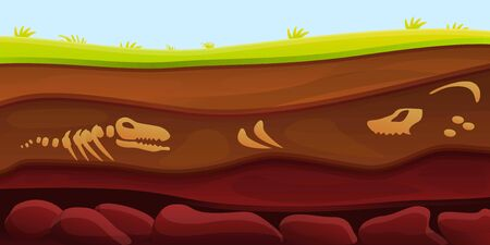 Old dinosaur soil concept banner. Cartoon illustration of old dinosaur soil vector concept banner for web design