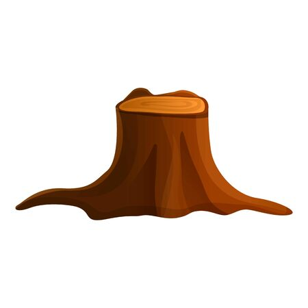 Tree stump icon. Cartoon of tree stump vector icon for web design isolated on white background