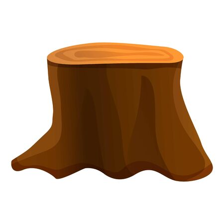 Big tree stump icon. Cartoon of big tree stump vector icon for web design isolated on white background