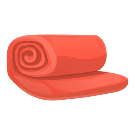 Red blanket icon. Cartoon of red blanket vector icon for web design isolated on white background 스톡 콘텐츠 - 133772866