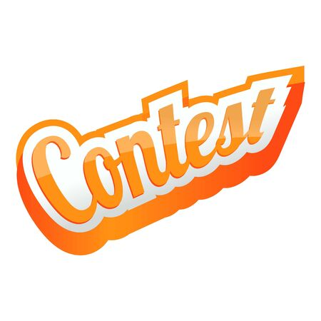 Contest text icon. Cartoon of contest text vector icon for web design isolated on white background