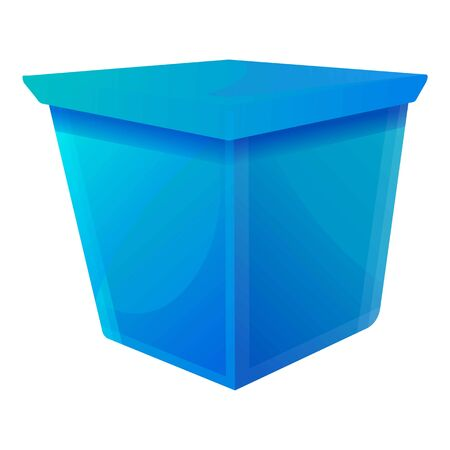 Blue gift box icon. Cartoon of blue gift box vector icon for web design isolated on white background 일러스트