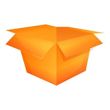 Empty carton box icon. Cartoon of empty carton box vector icon for web design isolated on white background Illusztráció
