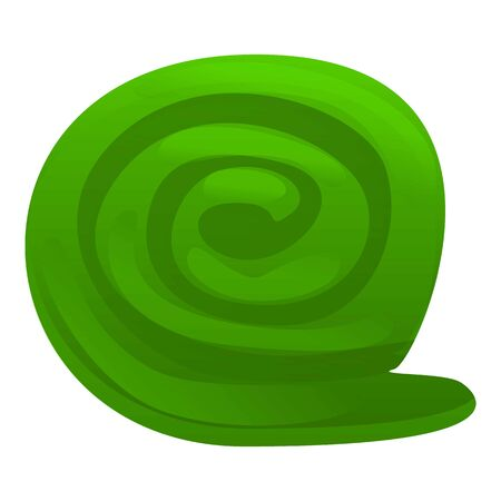 Green blanket icon. Cartoon of green blanket vector icon for web design isolated on white background 스톡 콘텐츠 - 133773001