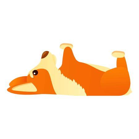 Funny corgi dog icon. Cartoon of funny corgi dog vector icon for web design isolated on white background 일러스트