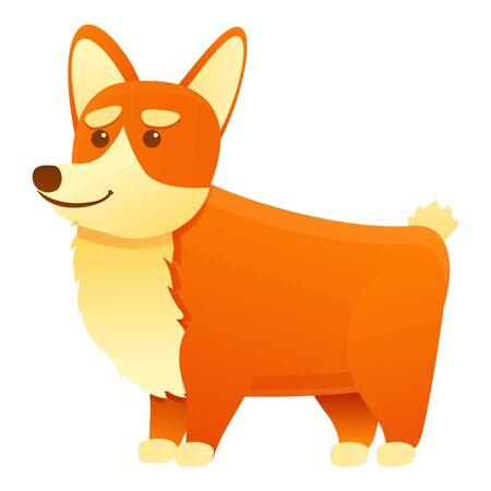 Canine corgi dog icon. Cartoon of canine corgi dog vector icon for web design isolated on white background