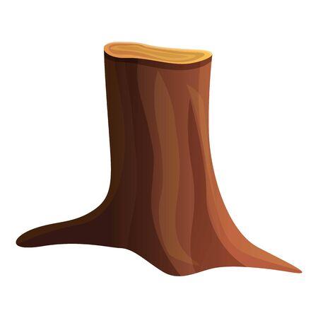Icône de souche d'arbre nature. Caricature de la nature souche d'arbre icône vecteur pour la conception web isolé sur fond blanc Vecteurs