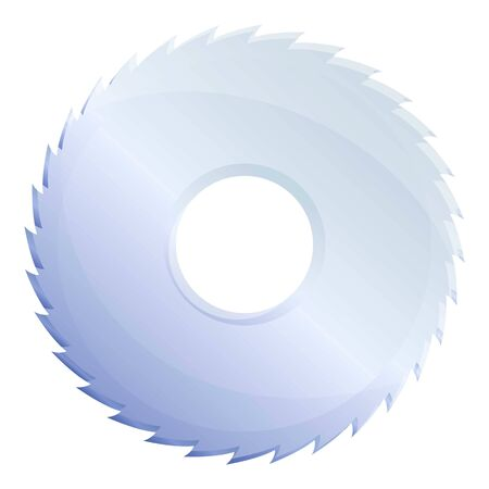 Circle saw icon. Cartoon of circle saw vector icon for web design isolated on white background