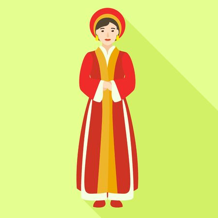 Vietnam woman icon. Flat illustration of Vietnam woman icon for web design