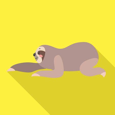 Sloth move icon. Flat illustration of sloth move icon for web design Stockfoto