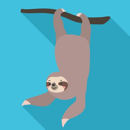 Sloth foot tree icon. Flat illustration of sloth foot tree icon for web design
