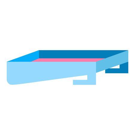 Paint box icon. Flat illustration of paint box icon for web design Stock fotó
