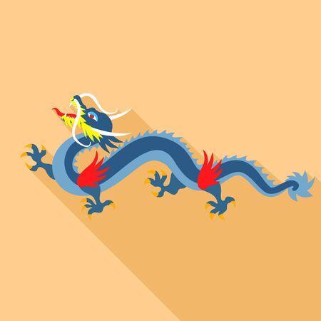 Vietnam dragon icon. Flat illustration of Vietnam dragon icon for web design