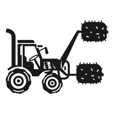 Lift farm tractor icon. Simple illustration of lift farm tractor icon for web design isolated on white background