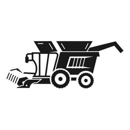 Harvester farm icon. Simple illustration of harvester farm icon for web design isolated on white background