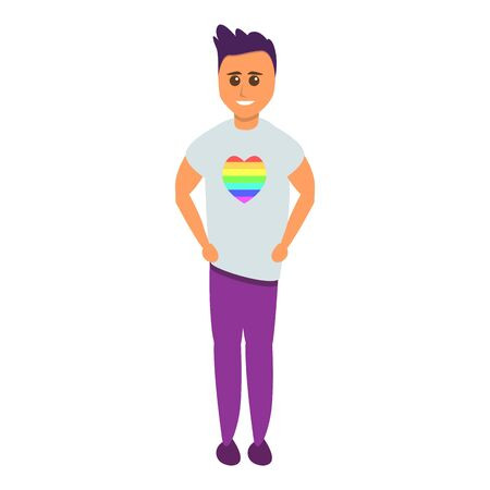 Gay man icon. Cartoon of gay man icon for web design isolated on white background