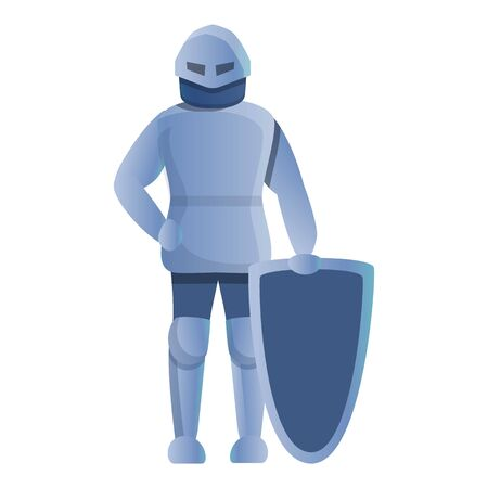 Knight take shield icon. Cartoon of knight take shield icon for web design isolated on white background