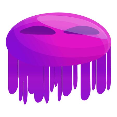 Violet bacteria icon. Cartoon of violet bacteria icon for web design isolated on white background