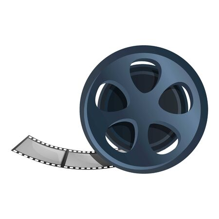 Reel filmstrip icon. Cartoon of reel filmstrip vector icon for web design isolated on white background Illustration