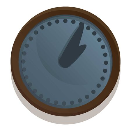 Modern wall clock icon. Cartoon of modern wall clock vector icon for web design isolated on white background
