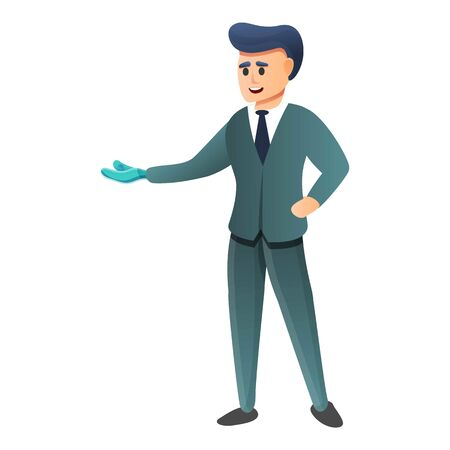 Businessman bionic hand icon. Cartoon of businessman bionic hand vector icon for web design isolated on white background
