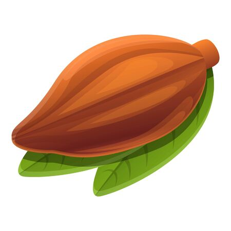 Cocoa fruit icon. Cartoon of cocoa fruit vector icon for web design isolated on white background
