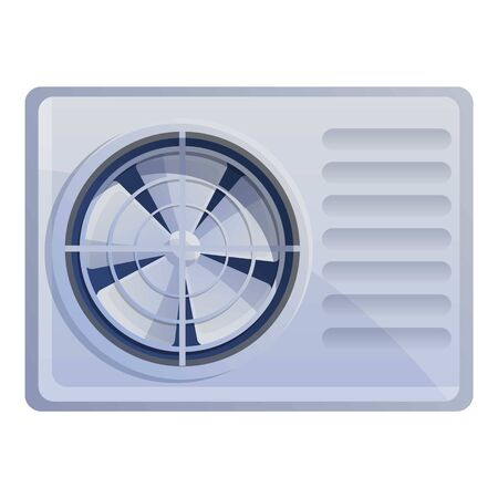 Air conditioner ventilator icon. Cartoon of air conditioner ventilator vector icon for web design isolated on white background