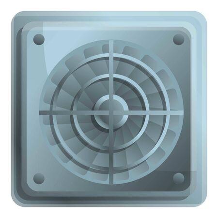 Pc ventilator icon. Cartoon of pc ventilator vector icon for web design isolated on white background