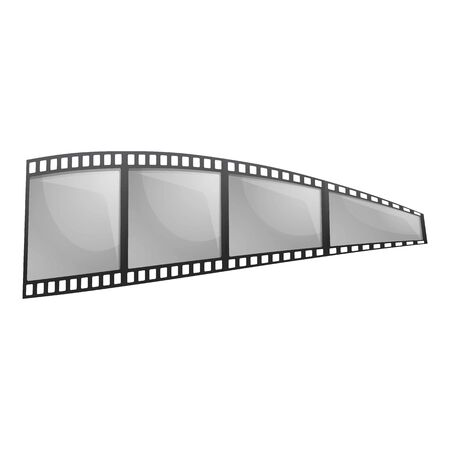 Negative filmstrip icon. Cartoon of negative filmstrip vector icon for web design isolated on white background