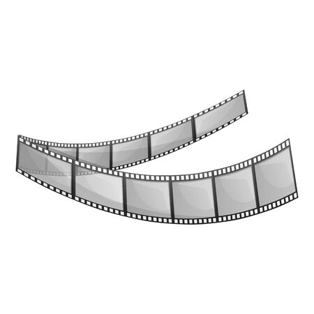 Digital filmstrip icon. Cartoon of digital filmstrip vector icon for web design isolated on white background