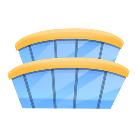 Airport building icon. Cartoon of airport building vector icon for web design isolated on white background
