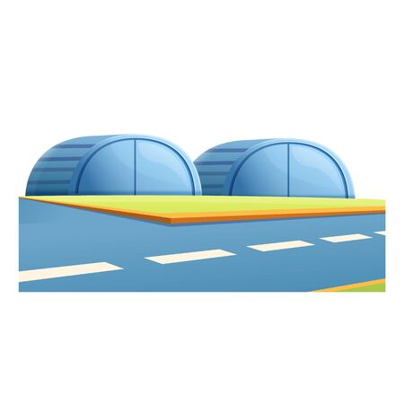 Airport hangar icon. Cartoon of airport hangar vector icon for web design isolated on white background