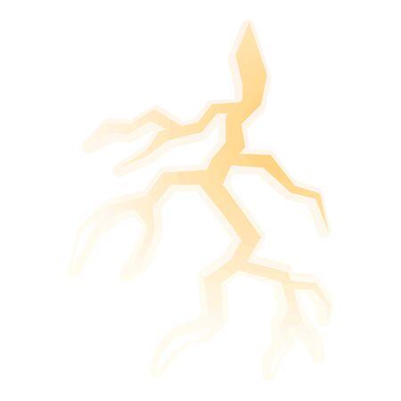 Thunderbolt icon. Cartoon of thunderbolt vector icon for web design isolated on white background Çizim