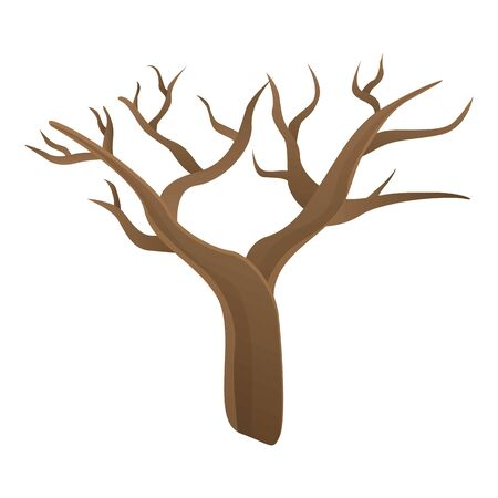 Alone tree icon. Cartoon of alone tree vector icon for web design isolated on white background