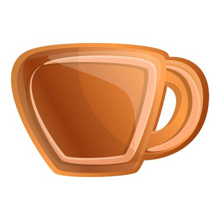 Cup gingerbread icon. Cartoon of cup gingerbread vector icon for web design isolated on white background