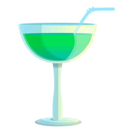 Margarita cocktail icon. Cartoon of margarita cocktail vector icon for web design isolated on white background