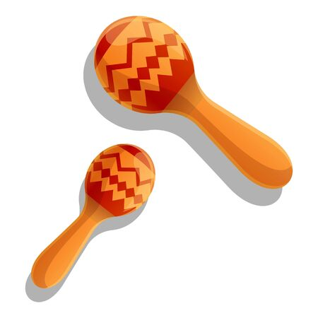 Maracas icon. Cartoon of maracas vector icon for web design isolated on white background
