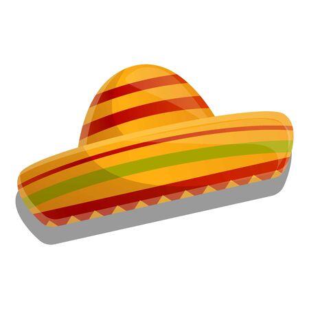 Sombrero icon. Cartoon of sombrero vector icon for web design isolated on white background
