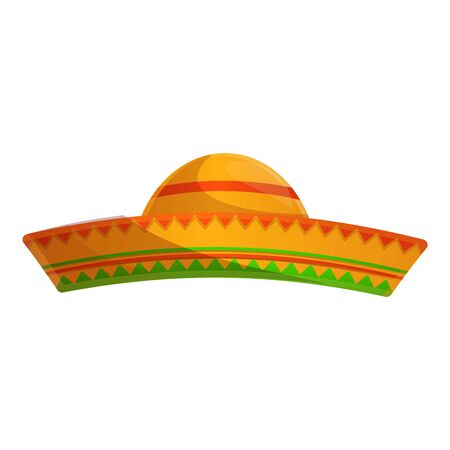 Mexican hat icon. Cartoon of mexican hat vector icon for web design isolated on white background Иллюстрация