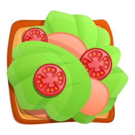 Sliced tomato toast icon. Cartoon of sliced tomato toast vector icon for web design isolated on white background Foto de archivo - 134552147