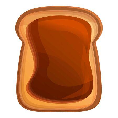Chocolate butter toast icon. Cartoon of chocolate butter toast vector icon for web design isolated on white background Stock Illustratie