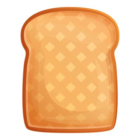 Fried toast icon. Cartoon of fried toast vector icon for web design isolated on white background Ilustracja