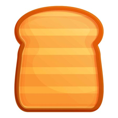 Toaster toast icon. Cartoon of toaster toast vector icon for web design isolated on white background