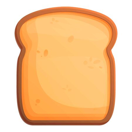 Traditional toast icon. Cartoon of traditional toast vector icon for web design isolated on white background