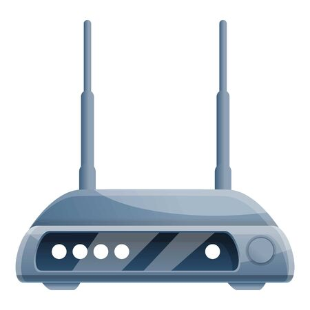 Home router icon. Cartoon of home router vector icon for web design isolated on white background