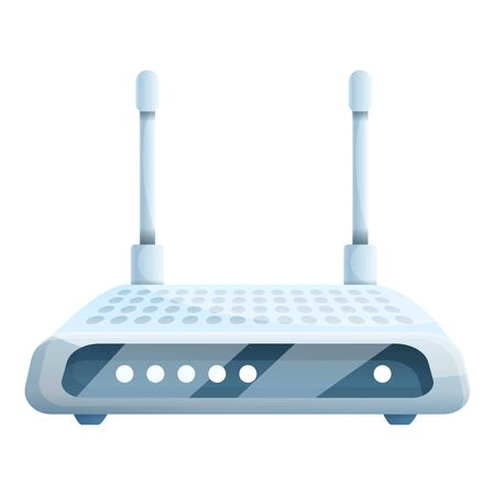Connection router icon. Cartoon of connection router vector icon for web design isolated on white background Çizim
