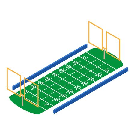 American football field icon. Isometric of american football field vector icon for web design isolated on white background